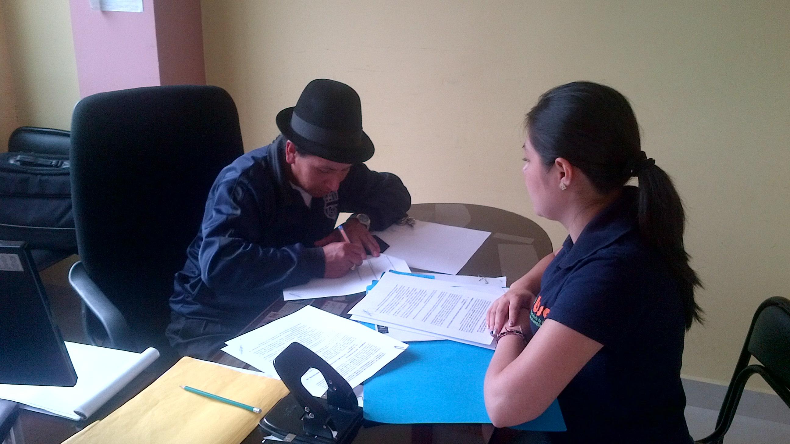 Firma de convenio GAD Parroquial de Tutuplai